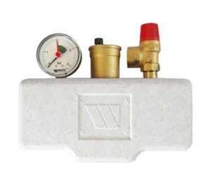 Группа безопасности в теплоизоляции 3 бар (до 100 кВт) Watts