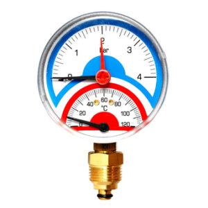 """Watts FR 828(TMRA) 4 Термоманометр радиальный 1/2"""" х 4 бар (80мм)"""