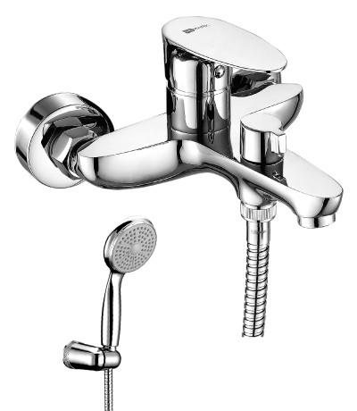 Смеситель для ванны с монолитным изливом NERO