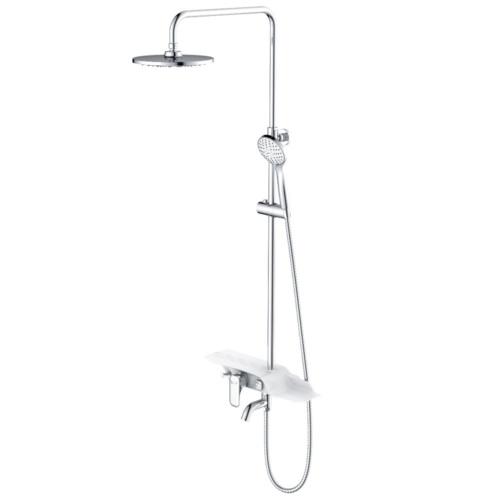 """Тропик"""" Смеситель для ванны с верхней душевой лейкой """"Тропический дождь"""", с пов. изливом"""