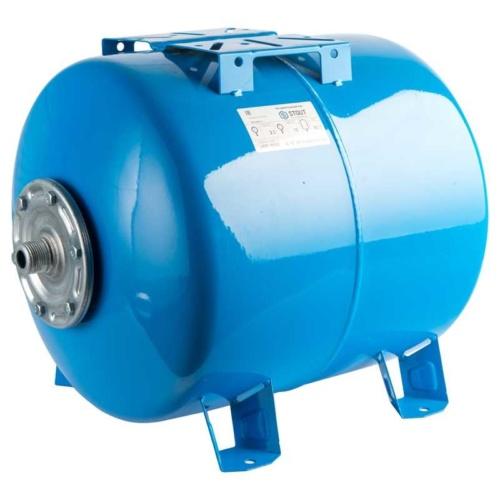 Расширительный бак, гидроаккумулятор 50 л. горизонтальный STOUT (цвет синий)